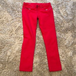Jcp red skinny jeans